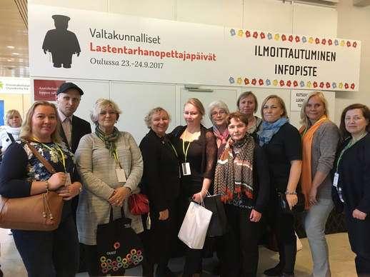 Soome lasteaiaõpetajate 2017 aasta liidupäevadest 23.- 24. septembril Oulus